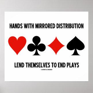 As mãos com distribuição espelhada emprestam aos poster