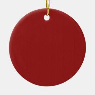 As máscaras vazias lisas DIY do vermelho adicionam Ornamento De Cerâmica Redondo