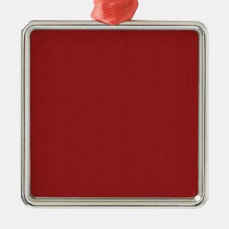 As máscaras vazias lisas DIY do vermelho adicionam Ornamento Quadrado Cor Prata