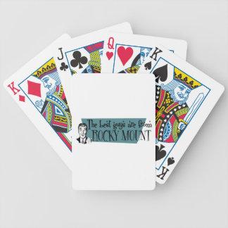 As melhores caras são da montagem rochosa cartas de baralhos