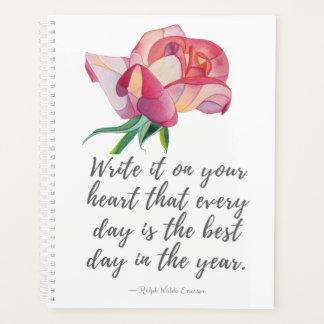 As melhores citações do dia e planejador