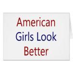As meninas americanas olham melhor cartão