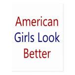 As meninas americanas olham melhor cartão postal