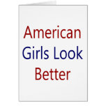 As meninas americanas olham melhor cartoes
