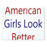 As meninas americanas olham melhor convite 10.79 x 13.97cm