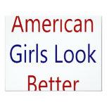 As meninas americanas olham melhor convites