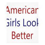 As meninas americanas olham melhor panfletos