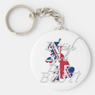 As meninas britânicas fazem-no melhor! chaveiro