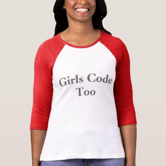 As meninas codificam demasiado camiseta