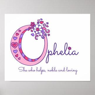 As meninas de Ophelia da arte do monograma de O Pôster