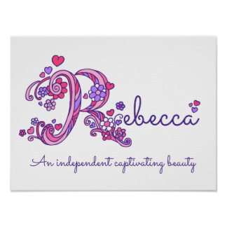 As meninas de Rebecca da arte do monograma de R Poster