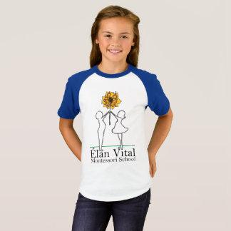 As meninas do EVM short o Raglan da luva Camiseta