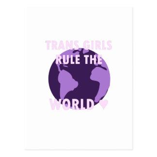 As meninas do transporte ordenam o mundo (v1) cartão postal