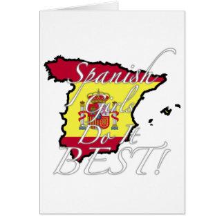 As meninas espanholas fazem-no melhor! cartao