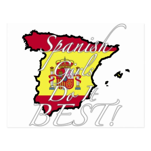 As meninas espanholas fazem-no melhor! cartões postais