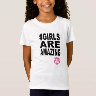 As meninas estão surpreendendo o t-shirt camiseta