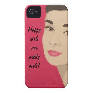 As meninas felizes são meninas bonito!: Caixa Capa Para iPhone 4 Case-Mate