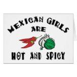 As meninas mexicanas são quentes & picantes cartões