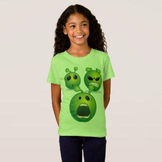As meninas multam a alienígena do t-shirt do camiseta