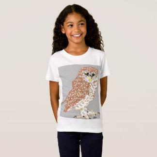 As meninas multam a coruja manchada t-shirt do camiseta