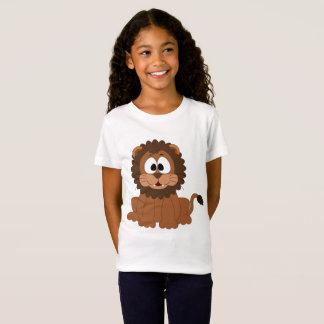 As meninas multam o jérsei t-shirt feliz do leão camiseta