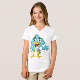 As meninas multam o pássaro #3 do t-shirt do camiseta