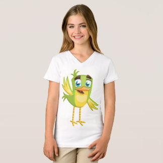 As meninas multam o pássaro #5 do t-shirt do camiseta
