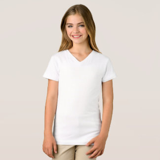 As meninas multam o t-shirt do V-Pescoço do jérsei Camiseta
