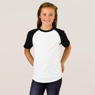 As meninas Short o t-shirt do Raglan da luva Camiseta
