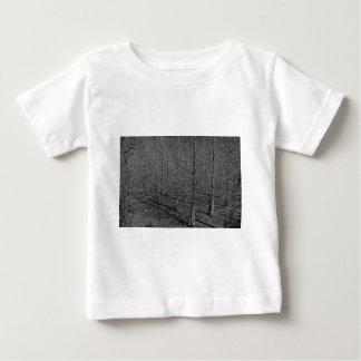 As mentes as mais escuras no bw camiseta para bebê
