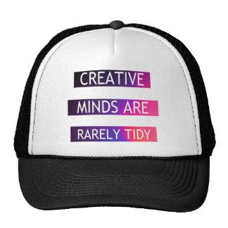 As mentes criativas são raramente arrumadas - boné