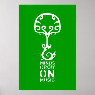 As mentes verdes crescem no poster da música