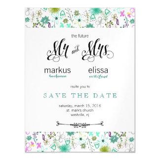 As mini flores salvar o convite de casamento da