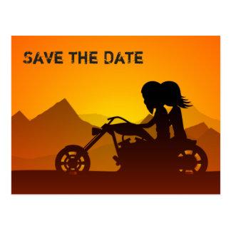 As montanhas da motocicleta salvar o convite de