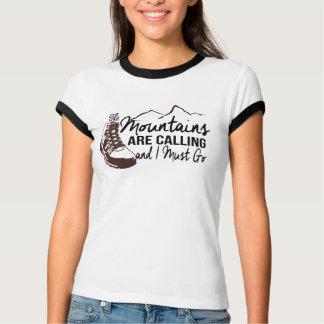 As montanhas estão chamando camiseta