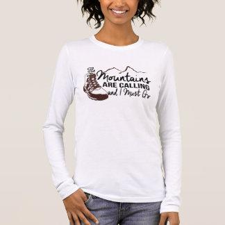 As montanhas estão chamando camiseta manga longa