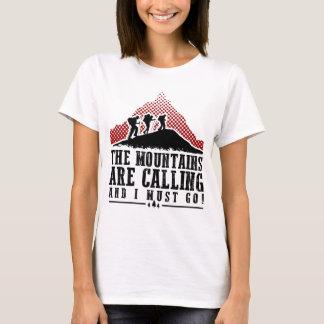 As montanhas estão chamando e eu devo ir camiseta