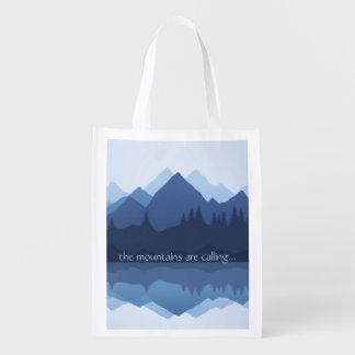 As montanhas estão chamando… o design o bolsa sacola ecológica