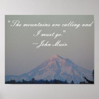 As montanhas estão chamando o poster