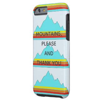 As montanhas satisfazem-no e agradecem-n a capa de