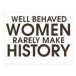 As mulheres bem comportadas fazem raramente a hist cartoes postais