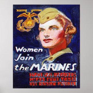 As mulheres juntam-se aos FUZILEIROS NAVAIS Poster