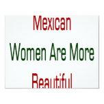 As mulheres mexicanas são mais bonitas convite 10.79 x 13.97cm