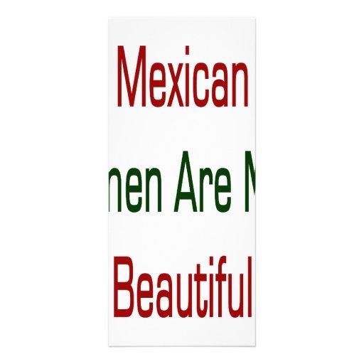 As mulheres mexicanas são mais bonitas panfletos informativos
