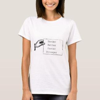 As mulheres refrigeram o t-shirt branco do punk camiseta