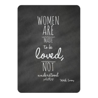 As mulheres significaram ser citações amadas de convite 12.7 x 17.78cm