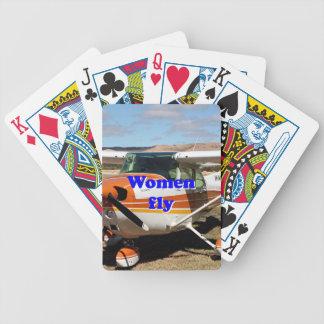 As mulheres voam: aviões altos da asa jogos de baralho