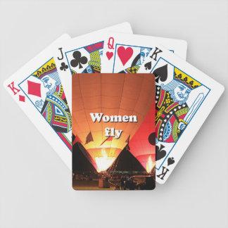 As mulheres voam: balão de ar quente 2 baralhos para pôquer