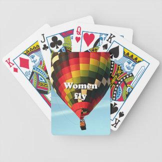 As mulheres voam: balão de ar quente baralho