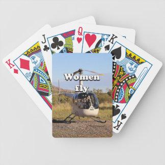 As mulheres voam: Helicóptero 2 (brancos) Baralho Para Pôquer